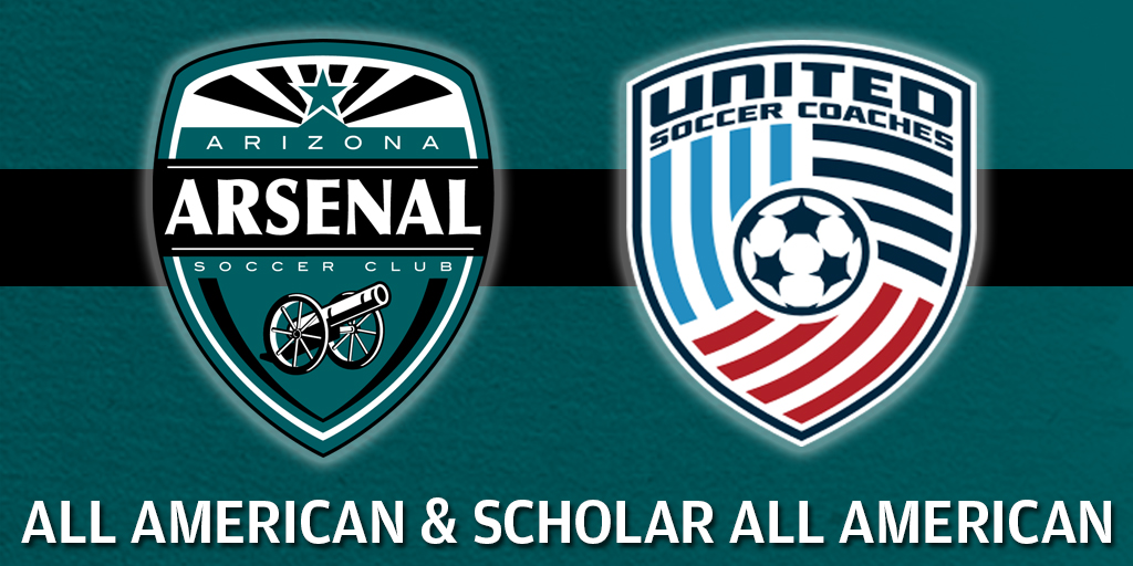 Arizona Arsenal Soccer Club Players Earn All American and Scholar All American Honors